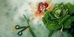 """Virginie Rapiat illustration for """"Dans le secret des petits jardins""""."""