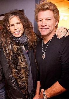 Steven Tyler and Jon Bon Jovi American Rock legends