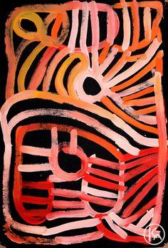 """Awelye Atnwengerrp"" by Minnie Pwerle 60cm x 90cm SOLD"