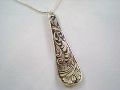 Spoon Pendant Antique Silverware Jewelry by monpetitchouboutique, $15.99 - more swirls