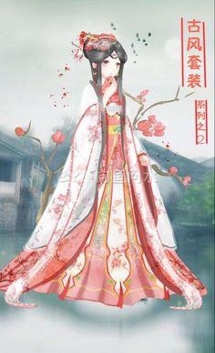 奇迹暖暖 服装设计 古风花蕊·梅花(来源...