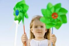 Easy Pinwheels for Preschoolers to Make--uses paper fasteners and straws instead of pencils and pins