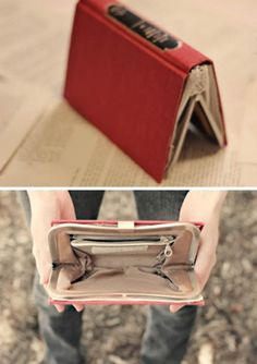 Book on the outside. Purse on the inside!- no one wants to snatch a book, unless you're me...