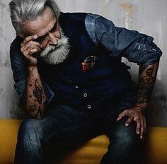 @Henri Jones #ivanotella #mustache #beardoil #dandy #gentleman #tattoo #oldschool #gray #beard #beardoil #beardlove #beardlife #jeans #gilet #milano #model #modelbeards #modelmale #beardmodel #beard4all #style #fashion #dress #set #studio #mustache...