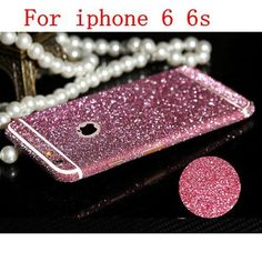 Full Body Stickers for iPhone 4 4S 5 5S SE 6 6s Plus 6Plus Shiny Glitter Sparkling Diamond Film Decals Matte Screen Protector