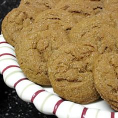 Fresh Ginger Cookies: These cookies were recommended by my friend Liz. This recipe yields a soft, chewy cookie packed with ginger flavor. The piece of ginger I had didn't yield the full 2 Tbsp., so I supplemented with a touch of ground ginger. These were very good, and I'd make them again.