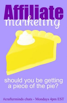 Affiliate marketing - some tips for bloggers from #crafterminds
