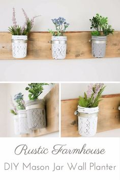 Farmhouse Decor to Make And Sell - DIY Rustic Farmhouse Mason Jar Planter - Easy DIY Home Decor and Rustic Craft Ideas - Step by Step Country Crafts, Farmhouse Decor To Make and Sell on Etsy and at Craft Fairs - Tutorials and Instructions for Creative Ways to Make Money - Best Vintage Farmhouse DIY For Living Room, Bedroom, Walls and Gifts http://diyjoy.com/farmhouse-decor-to-make-and-sell