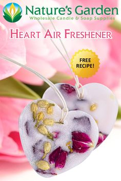 Free Heart Wax Air Freshener Recipe by Natures Garden