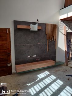 Tv Unit Furniture Design, Tv Unit Design, Wood Furniture, Wall Units, Tv Units, Wall Tv, Main Door, Led Panel, Living Room Tv