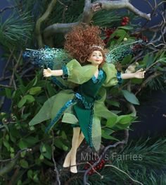 Fosette the Forest Fairy  Ornament Holiday Tree by MillysFairies Etsy. So gorgeous.
