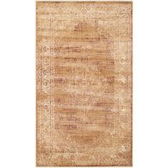 Vintage Taupe (Brown) 2 ft. 7 in. x 4 ft. Area Rug
