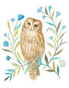 Owl by Karen Eland & Katie Daisy