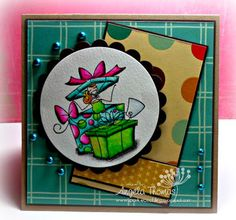 """Card I made using """"All boxed up a bella"""" from Stamping Bella"""