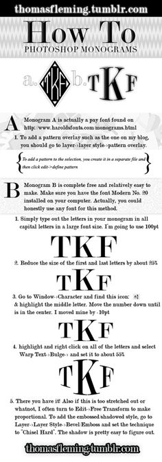 How To Photoshop Monograms...