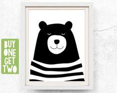 Rabbit print Animal print nursery Nursery by WallOfPrintables