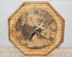 decoupage clock...