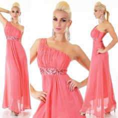 fdabe478d6 Korall köves félvállas alkalmi maxiruha - Női ruha webáruház, női ruhák  online - HG Fashion