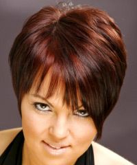 Salon Hairstyle: Casual Short Straight Hairstyle