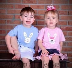 Easter Applique T Shirt Boy or Girl bunny by dreamalittledream10, $20.00