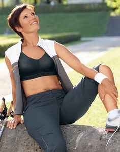 Anita Post Mastectomy Sports Bra- editorial with jacket
