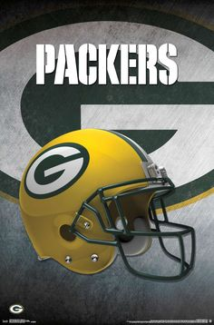 The Green Bay Packers Helmet Art Poster hangs perfectly in any bedroom, man-cave, office and den for any Packers fan. Officially Licensed through NFL Measures High Quality - Crystal Clear Image Printed on FSC-Certified Paper at FSC-Certified Printers Football Squads, Nfl Football Teams, Packers Football, Football Helmets, Greenbay Packers, Football Season, Redskins Helmet, Packers Memes, Packers Funny