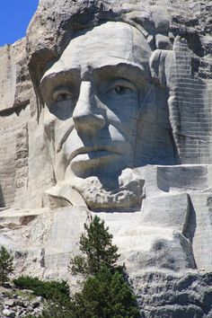 Lincoln head on Mount Rushmore, South Dakota Mont Rushmore, Beautiful World, Beautiful Places, Presidents Usa, Purple Mountain Majesty, Springfield Illinois, Memorial Park, Us History, Ancient Civilizations