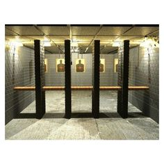 Gun range--nice indoor gun range ❤ liked on Polyvore featuring home and furniture