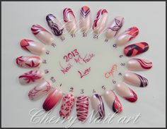 roue ongle nail art au vernis salon beauté selection paris 2013 cherry nail art