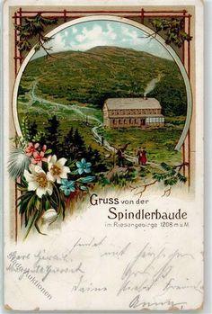 KO 07 Špindlerovka-czeskie schronisko na przełęczy Karkonoskiej Fairytale, Mountains, Painting, Roots, Postcards, Places, Pictures, Fairy Tail, Fairytail