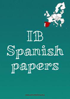 IB Spanish past papers Antonio Luna: