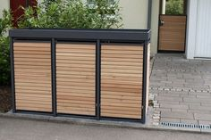 3er m lltonnenbox holz anthrazit grau reihenhausgarten pinterest m lltonnenbox holz. Black Bedroom Furniture Sets. Home Design Ideas