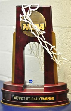 2012 NCAA Midwest Regional Championship Trophy has a permanent home in Allen Fieldhouse home of the KU Jayhawks