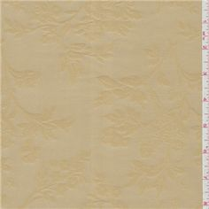 Shiny Gold Floral Jacquard Taffeta - 25291 - Fabric By The Yard At Discount Prices