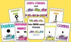 Punc-SHOE-ation Posters from Wild about Teaching 10 on TeachersNotebook.com -  (9 pages)