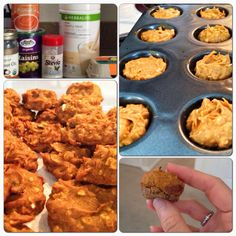 Healthy Pumpkin Raisin Cookies 1 cup pumpkin puree 1/4 cup applesauce 3 free range egg whites 1 tsp pure vanilla extract 2 tsp pumpkin spice 1/8 tsp pure stevia extract 1 1/4 cup Herbalife French Vanilla Formula 1 Healthy Meal Powder 3/4 cup quick oats 1/4 cup raisins (optional) Complete instructions more Recipes in my Group Page 80% Nutrition, 20% Fitness, 100% Attitude Herbalife shakes Herbalife Herbalife24 Herbalifers Herbalifer