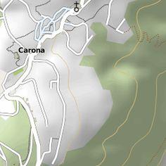 Map of Carona, Ticino, Switzerland.