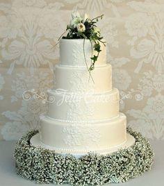 4 tired wedding cake