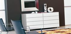 Modern Bedroom Dressers, Modern dressers are commonly seen in bedrooms and some of them can be placed in living rooms too. The purpose of modern bedroom dressers is simple, store with glamour! Contemporary Dining Table, Contemporary Design, Contemporary Dressers, White Chest Of Drawers, Furniture Sale, Furniture Showroom, Modern Furniture, Modern Dresser, Double Dresser