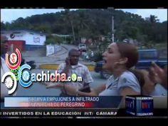 Sacan A Empujones A Infiltrado En Marcha De Peregrino #NoticiaTelemicro #Video   Cachicha.com