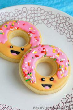 Haniela's: Kawaii Decorated Donut Cookies