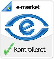 Vi er e-mærket, hvilket sikrer dig som forbruger, og giver dig juridisk hjælp ved køb gennem www.skabdinbolig.dk