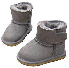 2b5028b2d6e Rabbit Kids Unisex Leather Kids GirlsBoys Warm Winter Cozy Flat Shoes  SnowBoots (Toddler Little Kid)