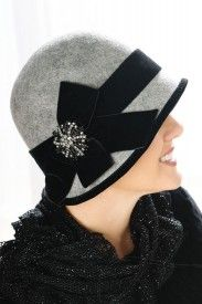 Vintage cloche hat with pin. Perfect for cancer patients and hair loss.