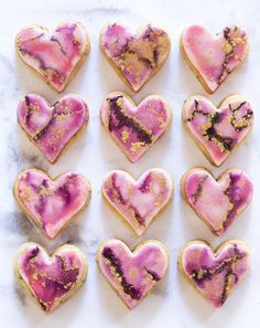 Valentine's Watercolor Painted Sugar Cookies