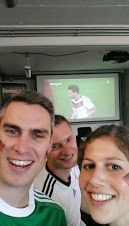 Jonathan doesn't only lift the spirits everyday in our Internet team in Germany but also when watching #GERPOR -soccer game  #selfiesworldwide