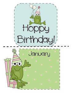 This is a cute frog-themed, mini bulletin board set for displaying your class's birthdays.  There is a title piece and 12 month pieces with room to...