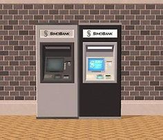 /Mod The Sims - [OFB] SimoBank ATM (working; from Ticket Machine)