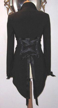 37 Victorian Corset Jacket Tux Tailcoat Steampunk by Revamporium