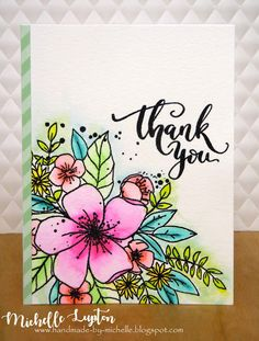 Handmade by Michelle: Zig Clean Color Real Brush Markers Birthday Card Drawing, Birthday Cards, Hand Drawn Cards, Altenew Cards, Paint Cards, Floral Drawing, Watercolor Cards, Watercolour, Flower Doodles